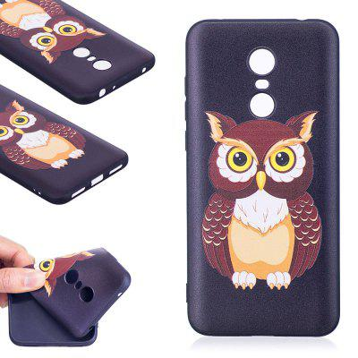 Relief Silicone Case for Xiaomi Redmi 5 Owl Pattern Soft TPU Protective Back Cover