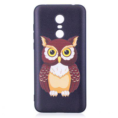 Relief Silicone Case for Xiaomi Redmi 5 Owl Pattern Soft TPU Protective Back Cover protective silicone soft back case cover for iphone 5 white