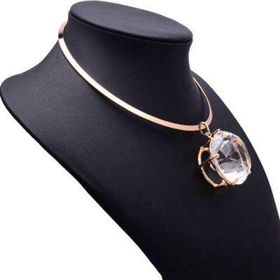 Women Fashion Metal Choker Big Diamond Pendant Short Necklace Collar Jewelry GiftsNecklaces &amp; Pendants<br>Women Fashion Metal Choker Big Diamond Pendant Short Necklace Collar Jewelry Gifts<br><br>Gender: For Women<br>Item Type: Torques<br>Length of Chain: 45 cm<br>Material: Artificial Gem<br>Metal Type: Alloy<br>Package Contents: 1 x Necklace<br>Package size (L x W x H): 10.00 x 5.00 x 2.00 cm / 3.94 x 1.97 x 0.79 inches<br>Package weight: 0.0700 kg<br>Shape/Pattern: Geometric<br>Size of Pendant: 4 cm<br>Stone Color: Transparent<br>Style: Hyperbole