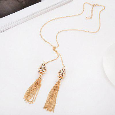 Women Girls Metal Fashion Jewelry Tassel Pendants Long NecklaceNecklaces &amp; Pendants<br>Women Girls Metal Fashion Jewelry Tassel Pendants Long Necklace<br><br>Gender: For Women<br>Item Type: Pendant Necklaces<br>Length of Chain: 45 cm<br>Material: Alloy<br>Metal Type: Alloy<br>Necklace Type: Link Chain<br>Package Contents: 1 x Necklace<br>Package size (L x W x H): 5.00 x 5.00 x 2.00 cm / 1.97 x 1.97 x 0.79 inches<br>Package weight: 0.0300 kg<br>Shape/Pattern: Geometric<br>Size of Pendant: 4 cm<br>Style: Trendy