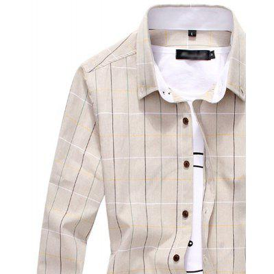 Fashion Casual Lapel Mens Long Sleeved ShirtMens Shirts<br>Fashion Casual Lapel Mens Long Sleeved Shirt<br><br>Collar: Turn-down Collar<br>Material: Cotton, Polyester<br>Package Contents: 1 X shirt<br>Shirts Type: Casual Shirts<br>Sleeve Length: Full<br>Weight: 0.3000kg