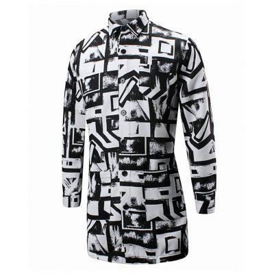 Mens Irregular Fashion and Leisure CoatMens Jackets &amp; Coats<br>Mens Irregular Fashion and Leisure Coat<br><br>Clothes Type: Trench<br>Collar: Turn-down Collar<br>Hooded: No<br>Materials: Polyester<br>Package Content: 1 X Windbreaker<br>Package size (L x W x H): 1.00 x 1.00 x 1.00 cm / 0.39 x 0.39 x 0.39 inches<br>Package weight: 0.3500 kg<br>Shirt Length: Long<br>Size1: S,M,L,XL,2XL<br>Style: Casual<br>Thickness: Thin