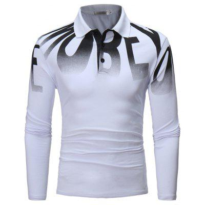 Trendy Lapel Long Sleeved POLO Shirt T - ShirtMens T-shirts<br>Trendy Lapel Long Sleeved POLO Shirt T - Shirt<br><br>Collar: Turn-down Collar<br>Color Style: Solid<br>Fabric Type: Broadcloth<br>Material: Cotton, Polyester<br>Package Contents: 1 X T-shirt<br>Pattern Type: Letter<br>Sleeve Length: Full<br>Style: Casual<br>Type: Regular<br>Weight: 0.3500kg