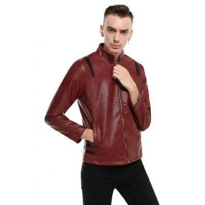 Stand Collar PU Leather MenS JacketMens Jackets &amp; Coats<br>Stand Collar PU Leather MenS Jacket<br><br>Clothes Type: Leather &amp; Suede<br>Collar: Stand Collar<br>Material: Faux Leather<br>Package Contents: 1?Jacket<br>Season: Spring, Fall, Winter<br>Shirt Length: Regular<br>Sleeve Length: Long Sleeves<br>Style: Fashion<br>Weight: 0.7000kg