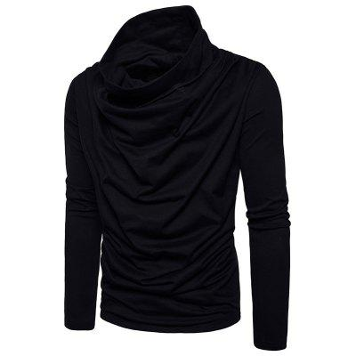 Solid Pile Collar Long Sleeved PulloverMens Sweaters &amp; Cardigans<br>Solid Pile Collar Long Sleeved Pullover<br><br>Closure Type: None<br>Collar: Hooded<br>Hooded: Yes<br>Material: Cotton<br>Package Contents: 1?Pullover<br>Package size (L x W x H): 1.00 x 1.00 x 1.00 cm / 0.39 x 0.39 x 0.39 inches<br>Package weight: 0.4000 kg<br>Pattern Type: Solid<br>Size1: S,M,L,XL,2XL<br>Sleeve Length: Full<br>Sleeve Style: Regular<br>Style: Fashion<br>SZ1314-MJ21: None<br>Thickness: Standard<br>Type: Pullovers