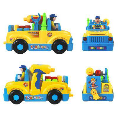 Truck Take Apart Toys for Boys Girl with Electric Drill Various Tools Lights Music Construction CarOther Educational Toys<br>Truck Take Apart Toys for Boys Girl with Electric Drill Various Tools Lights Music Construction Car<br><br>Age: All Ages<br>Applicable gender: Unisex<br>Battery Type: 3 x 1.5V AA battery(not included), 2 x 1.5V AA battery(not included)<br>Design Style: Other<br>Features: DIY<br>Gender: Unisex<br>Material: Electronic Components, ABS<br>Package Contents: 1 x Set of Toys<br>Package size (L x W x H): 31.50 x 16.00 x 19.00 cm / 12.4 x 6.3 x 7.48 inches<br>Package weight: 1.0000 kg<br>Small Parts: No<br>Type: Vehicle Toys<br>Washing: No