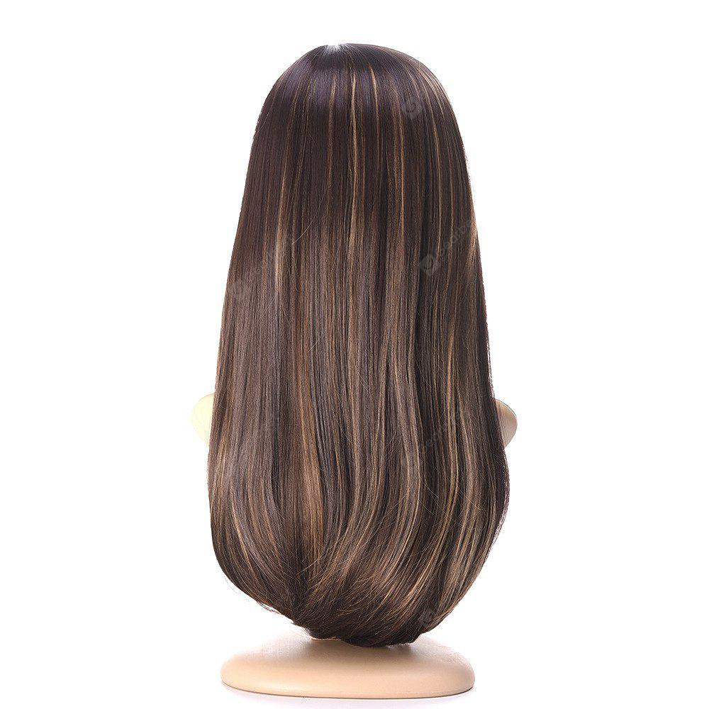 Long Brown Straight Wigs Oblique Bangs Hairstyle Natural Curly Hair Wigs for Women Hot Dyeable High Temperature Fibre Ha