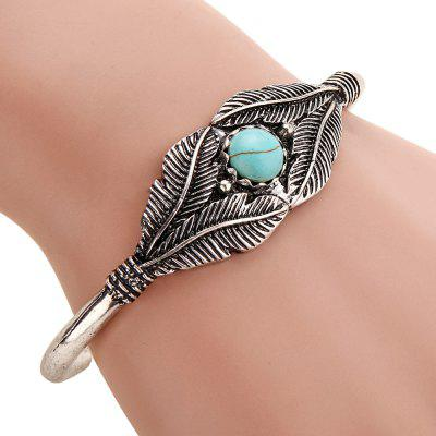 Europe and the United States new retro green pine stone leaf bracelet alloy opening braceletBracelets &amp; Bangles<br>Europe and the United States new retro green pine stone leaf bracelet alloy opening bracelet<br><br>Closure Type: Open<br>Gender: For Women<br>Item Type: Bangle<br>Metal Type: Zinc Alloy<br>Necklace Type: Other<br>Package Contents: 1 x beautiful<br>Package size (L x W x H): 1.00 x 1.00 x 1.00 cm / 0.39 x 0.39 x 0.39 inches<br>Package weight: 0.1000 kg<br>Product size (L x W x H): 1.00 x 1.00 x 1.00 cm / 0.39 x 0.39 x 0.39 inches<br>Setting Type: Channel Setting<br>Shape/Pattern: Gemetric<br>Stone Color: Green<br>Style: Vintage<br>Surface Plating: Silver Plated