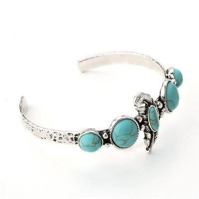 European and American new retro national Wind turquoise bracelet