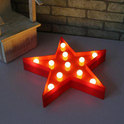 Star Shaped LED Plastic Sign-lighted Marquee Decoration LightNight Lights<br>Star Shaped LED Plastic Sign-lighted Marquee Decoration Light<br><br>Battery Quantity: 2<br>Color Temperature or Wavelength: 3000 - 4500K<br>Connector Type: Battery<br>Features: Decorative<br>Light Source Color: White<br>Light Type: Indoor Light,LED Night Light<br>Package Contents: 1 x Light<br>Package size (L x W x H): 12.00 x 12.00 x 2.00 cm / 4.72 x 4.72 x 0.79 inches<br>Package weight: 0.0220 kg<br>Power Source: Battery<br>Product weight: 0.0100 kg<br>Quantity: 1<br>Style: Artistic Style<br>Wattage: 0-5W
