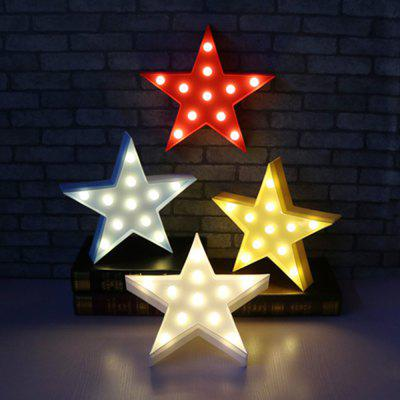 Star Shaped LED Plastic Sign-lighted Marquee Decoration Light metal bar led marquee sign light up vintage signs light bar indoor deration page 2