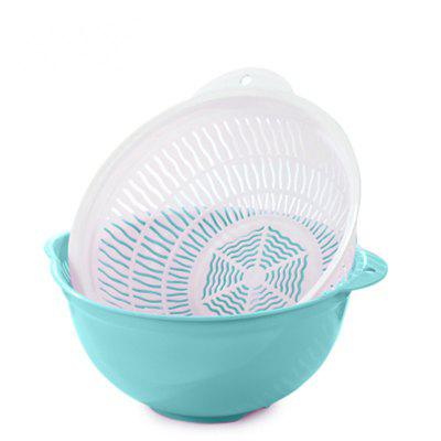 Fruit Plastic Wash Rice Vegetables Drain Basket KitchenOther Kitchen Accessories<br>Fruit Plastic Wash Rice Vegetables Drain Basket Kitchen<br><br>Material: Plastic<br>Package Contents: 2?Wash the dishes,2?Leak basin<br>Package size (L x W x H): 32.50 x 27.00 x 16.00 cm / 12.8 x 10.63 x 6.3 inches<br>Package weight: 1.5000 kg<br>Type: Other Kitchen Accessories