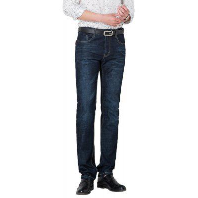 Slim Business Zipper Jeans