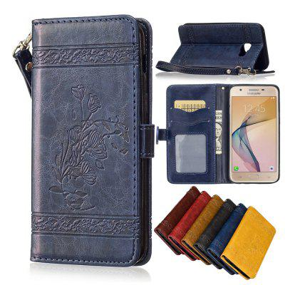 For Samsung Galaxy J5 Prime/On5 Case Cover Embossed Oil Wax Lines Phone Case Cover PU Leather Wallet Style CaseSamsung J Series<br>For Samsung Galaxy J5 Prime/On5 Case Cover Embossed Oil Wax Lines Phone Case Cover PU Leather Wallet Style Case<br><br>Color: Black,Red,Blue,Brown,Gold,Wine red<br>Compatible for Samsung: Samsung J5 Prime<br>Features: Dirt-resistant, Anti-knock, With Lanyard, With Credit Card Holder, Cases with Stand, Full Body Cases<br>For: Samsung Mobile Phone<br>Material: PU Leather, TPU<br>Package Contents: 1 x Phone Case<br>Package size (L x W x H): 14.70 x 7.50 x 1.50 cm / 5.79 x 2.95 x 0.59 inches<br>Package weight: 0.0650 kg<br>Style: Vintage, Novelty, Special Design, Cool, Funny, Retro, Floral, Fashion