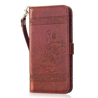 For Samsung Galaxy J5 Prime/On5 Case Cover Embossed Oil Wax Lines Phone Case Cover PU Leather Wallet Style Case