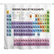 Periodic Table of Elements Polyester Shower Curtain Bathroom Curtain High Definition 3D Printing Water-Proof