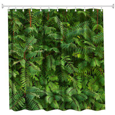 Green Polyester Shower Curtain Bathroom Curtain High Definition 3D Printing Water-Proof