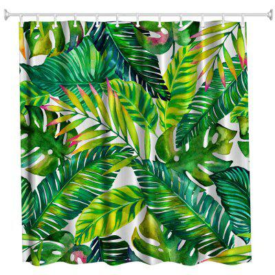 Painted Banana Polyester Shower Curtain Bathroom  High Definition 3D Printing Water-Proof