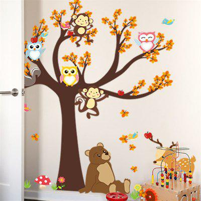 Cartoon Forest Animals Wall Art Sticker Kids Room DecalWall Stickers<br>Cartoon Forest Animals Wall Art Sticker Kids Room Decal<br><br>Art Style: Others<br>Effect Size (L x W): 100x100cm<br>Function: Decorative Wall Sticker<br>Layout Size (L x W): 90x30cmx2pcs<br>Material: Vinyl(PVC)<br>Package Contents: 2 x Wall Sticker<br>Package size (L x W x H): 30.00 x 4.00 x 4.00 cm / 11.81 x 1.57 x 1.57 inches<br>Package weight: 0.2400 kg<br>Product Type: Others<br>Product weight: 0.1800 kg<br>Quantity: 2<br>Subjects: Cartoon<br>Suitable Space: Kids Room,Kids Room<br>Type: Plane Wall Sticker