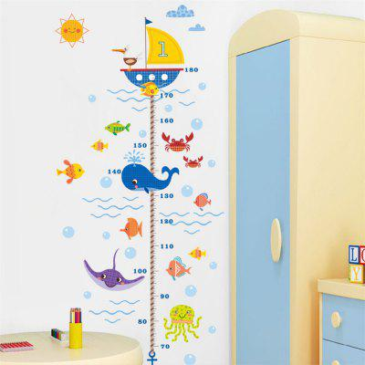 Underwater World Shark Height Stickers Kids Room Decoration Wall Art DecalWall Stickers<br>Underwater World Shark Height Stickers Kids Room Decoration Wall Art Decal<br><br>Effect Size (L x W): 170x56cm<br>Function: Decorative Wall Sticker, Height Sticker<br>Layout Size (L x W): 80x30cmx2pcs<br>Material: Vinyl(PVC)<br>Package Contents: 2 x Wall Sticker<br>Package size (L x W x H): 30.00 x 4.00 x 4.00 cm / 11.81 x 1.57 x 1.57 inches<br>Package weight: 0.2500 kg<br>Product weight: 0.1700 kg<br>Quantity: 2<br>Subjects: Cartoon<br>Suitable Space: Bedroom,Kids Room,Kids Room,Boys Room,Girls Room<br>Type: Plane Wall Sticker
