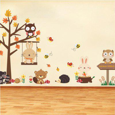 Cartoon Owl Tree Wall Stickers Childrens Room Kindergarten Decorative StickersWall Stickers<br>Cartoon Owl Tree Wall Stickers Childrens Room Kindergarten Decorative Stickers<br><br>Art Style: Others<br>Effect Size (L x W): 140x80cm<br>Function: Decorative Wall Sticker<br>Layout Size (L x W): 90x30cmx2pcs<br>Material: Vinyl(PVC)<br>Package Contents: 2 x Wall Sticker<br>Package size (L x W x H): 30.00 x 4.00 x 4.00 cm / 11.81 x 1.57 x 1.57 inches<br>Package weight: 0.2400 kg<br>Product Type: Others<br>Product weight: 0.1700 kg<br>Quantity: 2<br>Subjects: Cartoon<br>Suitable Space: Bedroom,Kids Room,Kids Room,Living Room<br>Type: Plane Wall Sticker