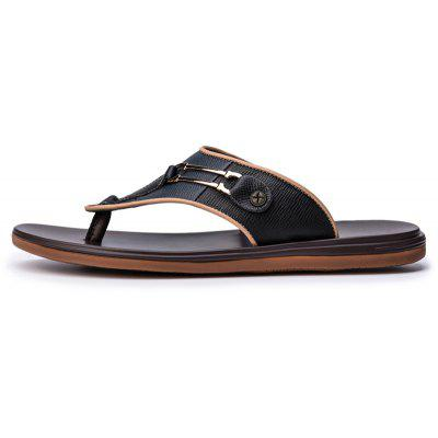 Male Summer Fashion Casual Flip-FlopsMens Slippers<br>Male Summer Fashion Casual Flip-Flops<br><br>Available Size: 38 39 40 41 42 43<br>Embellishment: Sequined<br>Gender: For Men<br>Outsole Material: Rubber<br>Package Contents: 1xShoes(pair)<br>Pattern Type: Plaid<br>Season: Summer<br>Slipper Type: Outdoor<br>Style: Leisure<br>Upper Material: Genuine Leather<br>Weight: 1.9448kg