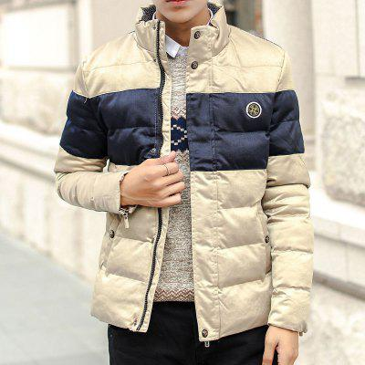 Autumn and Winter Fashion Padded Collar Mens Long Sleeve Stripe Color CoatMens Jackets &amp; Coats<br>Autumn and Winter Fashion Padded Collar Mens Long Sleeve Stripe Color Coat<br><br>Closure Type: Zipper<br>Clothes Type: Padded<br>Collar: Stand Collar<br>Color Style: Contrast Color<br>Colors: Black,Green,Khaki,Royalblue<br>Detachable Part: None<br>Fabric Type: Polyester<br>Hooded: No<br>Lining Material: Polyester<br>Materials: Polyester, Cotton<br>Package Content: 1?Coat<br>Package size (L x W x H): 1.00 x 1.00 x 1.00 cm / 0.39 x 0.39 x 0.39 inches<br>Package weight: 0.8000 kg<br>Pattern Type: Others<br>Product weight: 0.8000 kg<br>Shirt Length: Regular<br>Size1: L,XL,2XL,3XL<br>Sleeve Style: Regular<br>Style: Casual<br>Technics: Other<br>Thickness: Thickening