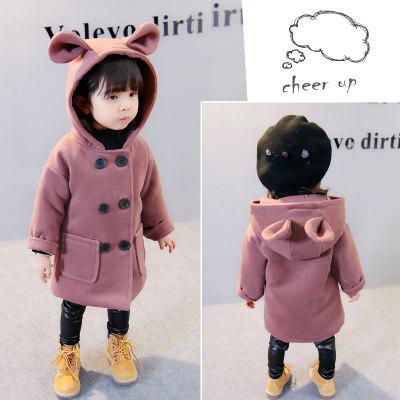 GirlS Pure Color Hooded Cartoon Pure Color Trench CoatGirls Outerwear<br>GirlS Pure Color Hooded Cartoon Pure Color Trench Coat<br><br>Closure Type: Single Breasted<br>Clothes Type: Leather &amp; Suede<br>Collar: Hooded<br>Embellishment: Pockets<br>Material: Cotton, Cotton Blend<br>Package Contents: 1x Coat<br>Pattern Type: Solid<br>Shirt Length: Regular<br>Sleeve Length: Full<br>Style: Sweet<br>Type: Slim<br>Weight: 0.2000kg