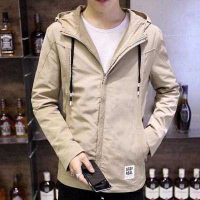 Teenager Solid Color Thin Patch Patch Hooded JacketMens Jackets &amp; Coats<br>Teenager Solid Color Thin Patch Patch Hooded Jacket<br><br>Clothes Type: Jackets<br>Collar: Hooded<br>Material: Polyester<br>Package Contents: 1 x jacket<br>Season: Fall<br>Shirt Length: Regular<br>Sleeve Length: Long Sleeves<br>Style: Casual<br>Weight: 0.5000kg