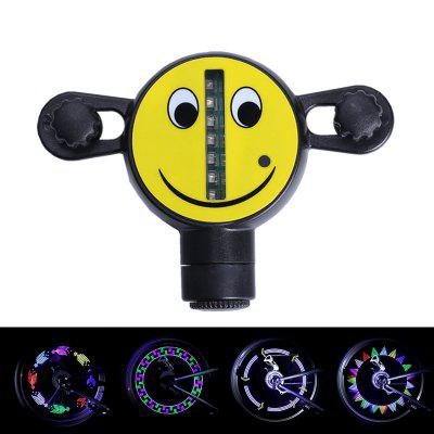 LEADBIKE 14LED Motorcycle Bicycle Wheel Light Bike Signal Tire Spoke Smile Lamp 30 Changes Colorful Cycling Accessories