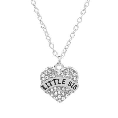 925 Silver Plated Love Heart Little Sister Pendant Necklace for Women GirlNecklaces &amp; Pendants<br>925 Silver Plated Love Heart Little Sister Pendant Necklace for Women Girl<br><br>Package Contents: 1 x Necklace<br>Package size (L x W x H): 10.00 x 5.00 x 1.00 cm / 3.94 x 1.97 x 0.39 inches<br>Package weight: 0.0100 kg
