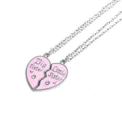 Big Sister Little Sister Forever Broken Heart Pendant Necklace Sister Friendship GiftNecklaces &amp; Pendants<br>Big Sister Little Sister Forever Broken Heart Pendant Necklace Sister Friendship Gift<br><br>Package Contents: 2 x Necklace<br>Package size (L x W x H): 10.00 x 5.00 x 1.00 cm / 3.94 x 1.97 x 0.39 inches<br>Package weight: 0.0200 kg