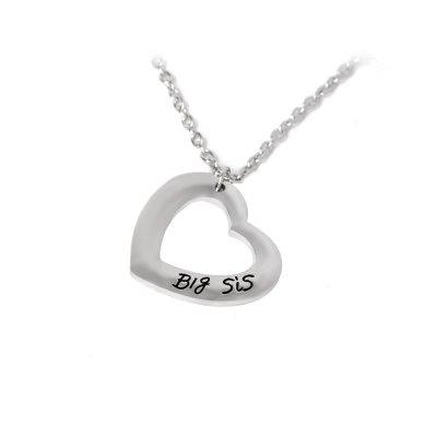 925 Silver Plated Love Heart Big Little Sister Pendant NecklaceNecklaces &amp; Pendants<br>925 Silver Plated Love Heart Big Little Sister Pendant Necklace<br><br>Gender: Unisex<br>Item Type: Pendant Necklaces<br>Metal Type: Stainless Steel<br>Necklace Type: Link Chain<br>Package Contents: 2 x Necklace<br>Package size (L x W x H): 10.00 x 5.00 x 1.00 cm / 3.94 x 1.97 x 0.39 inches<br>Package weight: 0.0200 kg