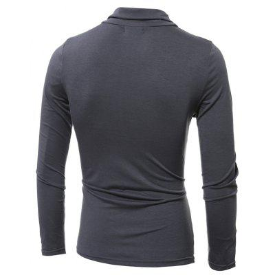 New Personality Oblique Button Stitching Mens Long-Sleeved T-ShirtMens T-shirts<br>New Personality Oblique Button Stitching Mens Long-Sleeved T-Shirt<br><br>Collar: Turn-down Collar<br>Material: Polyester<br>Package Contents: 1xT Shirt<br>Pattern Type: Patchwork<br>Sleeve Length: Full<br>Style: Fashion<br>Weight: 0.2200kg