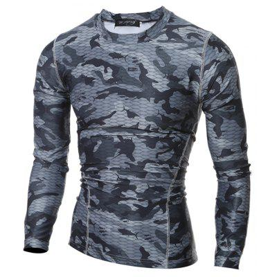 New Mens Tight-Fitting Long-Sleeved Breathable Sports Shirt T-ShirtMens T-shirts<br>New Mens Tight-Fitting Long-Sleeved Breathable Sports Shirt T-Shirt<br><br>Collar: Turn-down Collar<br>Material: Polyester<br>Package Contents: 1xT Shirt<br>Pattern Type: Others<br>Sleeve Length: Full<br>Style: Active<br>Weight: 0.2300kg