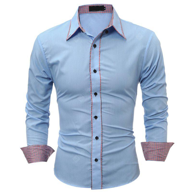 Solid Color Self-Cultivation Long-Sleeved Shirt