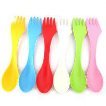 6 Pcs 1 Set 3 In 1 Spoon Fork Knife Camping Hiking Utensils Spork Combo Travel Camp Tableware Set