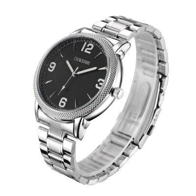 Simple Stainless Steel Quartz Watch Large Dial Sports Watch