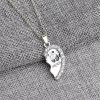 Newest Jewelry  Best Friends Dolphin Pendant  Penguin Anchor Friends Love Diamond Necklace - SILVER