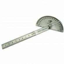 Ruler Protractor Stainless Steel Straighted Ruler and 180 Degree Carpenter 10CM Measuring Angle Meter