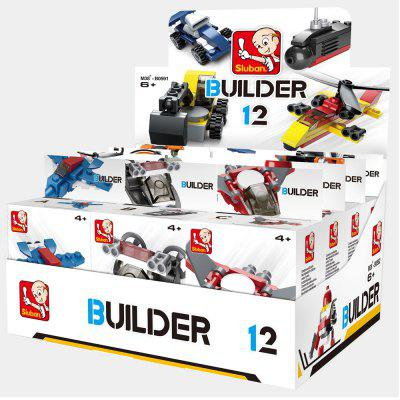 Sluban Building Blocks Educational Kids Toy Different Models 12PCS (323 Granulum)Block Toys<br>Sluban Building Blocks Educational Kids Toy Different Models 12PCS (323 Granulum)<br><br>Brand: Sluban<br>Completeness: Finished Goods<br>Gender: Boys,Girls,Unisex<br>Materials: ABS, Plastic<br>Package Contents: 12 x Product, 12 x Small Color Box, 12 x English Manual, 1 x Big Display Box<br>Package size: 20.60 x 15.70 x 11.80 cm / 8.11 x 6.18 x 4.65 inches<br>Package weight: 0.7000 kg<br>Stem From: Other<br>Suitable Age: Adults,Baby,Kid<br>Theme: Airplanes,Boats,Buildings,Fantasy and Sci-fi,Other,Robots,Sports,Vehicle<br>Type: Kids Building, Construction, Building