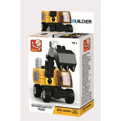Sluban Building Blocks Educational Kids Toy Construction Vehicles ( 37 - 44 Piece )Block Toys<br>Sluban Building Blocks Educational Kids Toy Construction Vehicles ( 37 - 44 Piece )<br><br>Brand: Sluban<br>Gender: Boys,Girls,Unisex<br>Materials: Plastic, ABS<br>Package Contents: 1 x Product, 1 x Color Box, 1 x English Manual<br>Package size: 11.50 x 3.80 x 14.90 cm / 4.53 x 1.5 x 5.87 inches<br>Package weight: 0.1800 kg<br>Stem From: Other<br>Suitable Age: Adults,Baby,Kid<br>Theme: Airplanes,Boats,Other,Robots,Sports,Vehicle<br>Type: Kids Building, Construction, Building