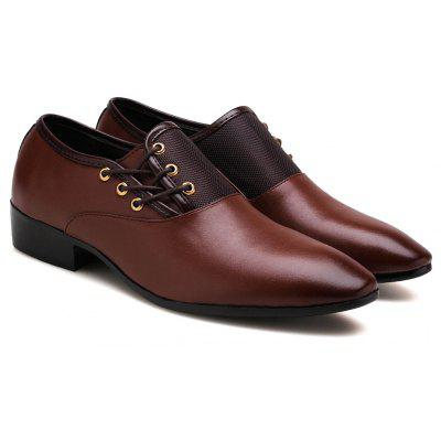 Fashion Leather Shoes Oxford Shoes Wedding Office Males Flats Shoes