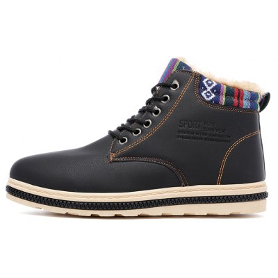 """New Fashion British Martin Boots Winter Warm Wool Leather Shoes Mens Waterproof Flat ShoesMens Boots<br>New Fashion British Martin Boots Winter Warm Wool Leather Shoes Mens Waterproof Flat Shoes<br><br>Boot Height: Ankle<br>Boot Type: Snow Boots<br>Closure Type: Lace-Up<br>Embellishment: None<br>Gender: For Men<br>Heel Hight: Flat(0-0.5"""")<br>Heel Type: Flat Heel<br>Outsole Material: Rubber<br>Package Contents: 1 x pair of shoes<br>Pattern Type: Solid<br>Season: Winter, Spring/Fall<br>Toe Shape: Round Toe<br>Upper Material: Leather<br>Weight: 2.6250kg"""