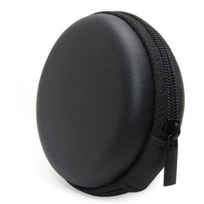 Black bluetooth handsfree headset Case - Clamshell Style with Zipper Enclosure Inner Pocket and Durable Exterior