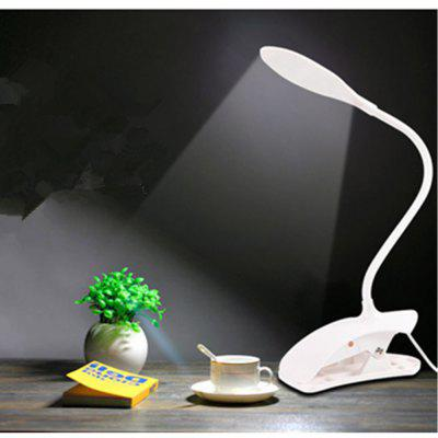 Buy WHITE Clip on Bedside Table Lamp Reading Eye-care Energy Efficient Portable USB Rechargeable for $7.33 in GearBest store