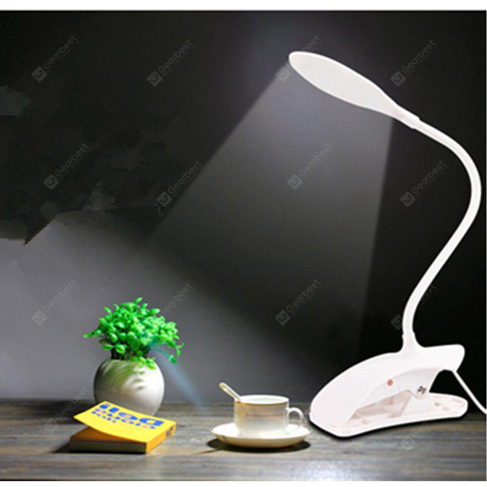 Clip on Bedside Table Lamp - Reading Eye-care Energy Efficient Portable USB Rechargeable