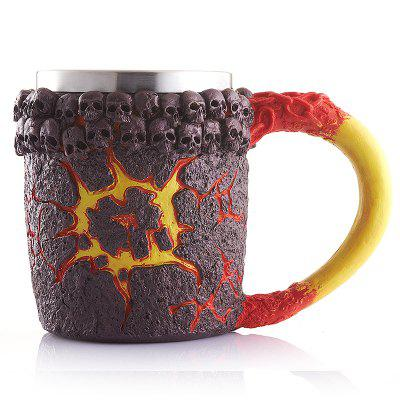 Creative Office Cup Monster Magma Resin Shell Retro Skeleton Stainless Steel Mug ModificationDrinkware<br>Creative Office Cup Monster Magma Resin Shell Retro Skeleton Stainless Steel Mug Modification<br><br>Package Contents: 1 x Resin cup<br>Package Size(L x W x H): 20.00 x 15.00 x 15.00 cm / 7.87 x 5.91 x 5.91 inches<br>Package weight: 0.4000 kg
