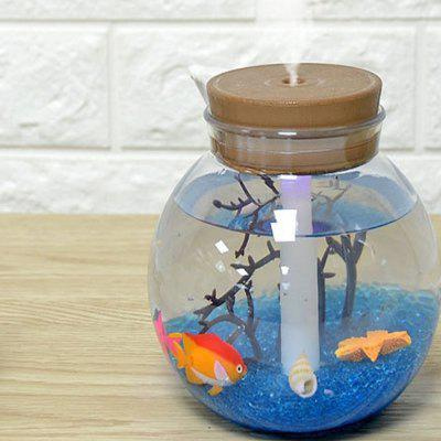 Creative DIY Micro Landscape Magic Eco Bottle Color Lights HumidifierAir Purifier<br>Creative DIY Micro Landscape Magic Eco Bottle Color Lights Humidifier<br><br>Cord Length: 120cm<br>Current (mA): 400MA<br>Input Voltage: DC5V<br>LED Quantity: 3<br>Noise (dB): about 36dB<br>Package Contents: 1 x Humidifier, 1 x Spare sponge stick, 1 x USB cable, 1 x DIY landscape kit, 1 x Chinese / English manual<br>Package size (L x W x H): 11.30 x 11.30 x 11.90 cm / 4.45 x 4.45 x 4.69 inches<br>Package weight: 0.3738 kg<br>Power (W): 2.5W<br>Product size (L x W x H): 11.00 x 11.00 x 11.35 cm / 4.33 x 4.33 x 4.47 inches<br>Product weight: 0.3010 kg<br>Water Tank Capacity (ml): 500ML
