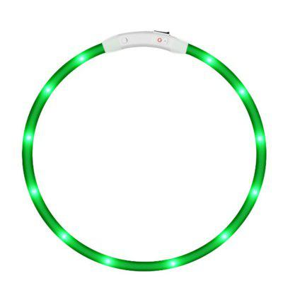 Yeshold LED Collar de perro Collar USB Recargable de seguridad impermeable Luz intermitente ajustable para mascotas cuello Loop